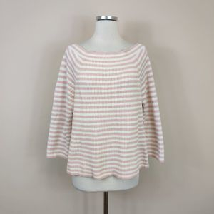 J. Crew Stripe Relaxed Boat Neck Sweater